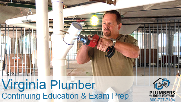 Virginia Plumber Continuing Education & Exam Prep