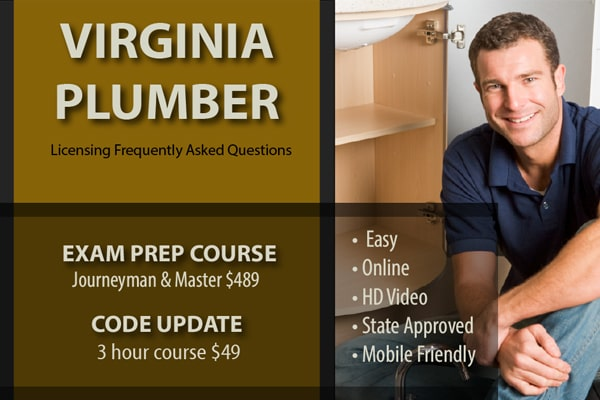 Virginia Plumbing Licensing Frequently Asked Questions