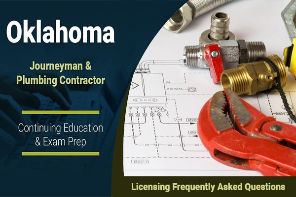 Oklahoma Plumbing Licensing Frequently Asked Questions